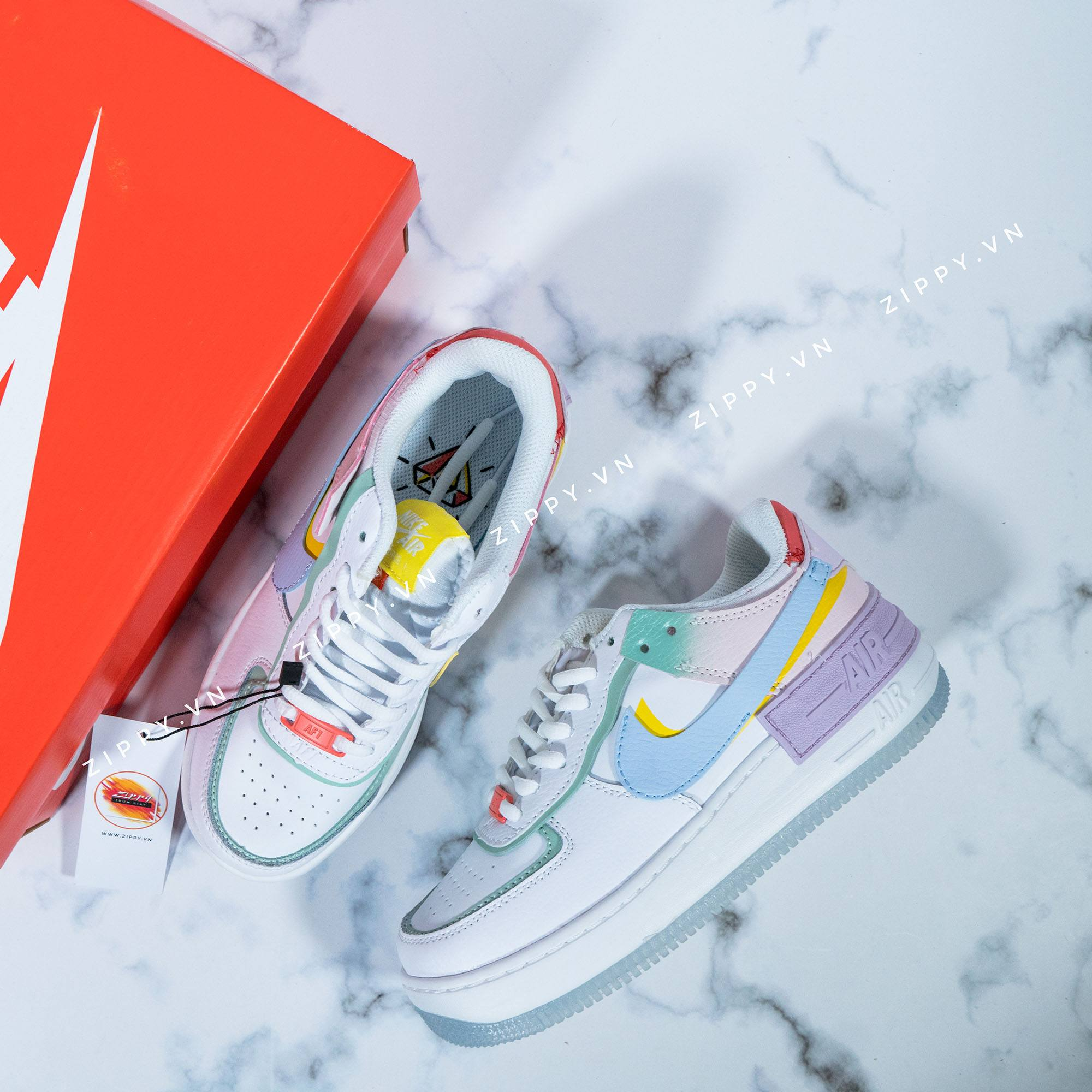 Air Force 1 Shadow Mau White Hydrogen Blue Purple Zippy Store Nike air force 1 shadow pastel summit white ghost trainers new various sizes. air force 1 shadow mau white hydrogen blue purple